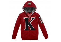 KINGSLAND - Peacock Red Unisex Hooded Sweat Top